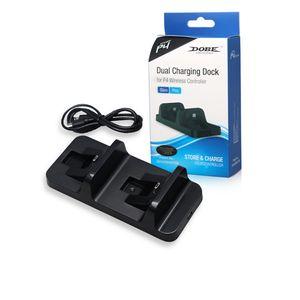 Dock İstasyonu Playstation 4 PS4 gamepad joystick için Standı Şarj Kontrolör Çift Kol Kablosuz Şarj Çift USB