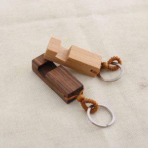 나무 키 체인 전화 홀더 사각형 나무 열쇠 고리 휴대 전화 스탠드 자료 최고의 선물 키 체인 파티 2 개 스타일 DHL WX9-1859 호의