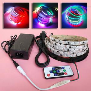 Set completo 5m WS2811 5050 RGB LED PIXEL Strip Light 300LEDS indirizzabile Dream Magic Color IP65 Impermeabile 12V Alimentazione telecomando
