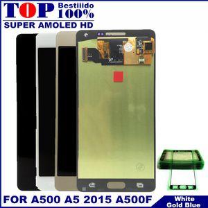 Samsung Galaxy A5 2015 A500 A500F A500FU A500H A500M LCD Ekran Dokunmatik Ekran Sayısallaştırıcı Meclisi Yedek İçin A500 AMOLED LCD