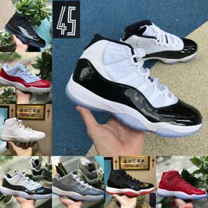 2020 Nike Air Jordan 11 retro jordans donne degli uomini di pallacanestro Concord 45 Platinum tinta ciliegio Protezione Ed Abito Space Jam Air Sport Formatori scarpe