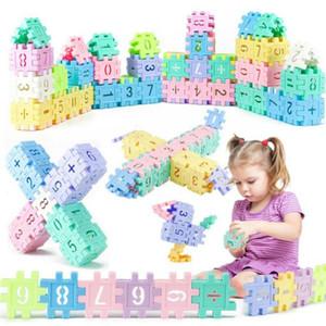 66 / 110 шт. пластиковые строительные блоки Монтессори детские игрушки дети дети цифровой геометрической формы забавные развивающие игрушки подарки с коробкой