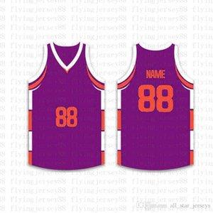 Top Custom Basketball Jerseys der Männer Stickerei Logos Jersey Freies Verschiffen billig Großhandel Jede beliebige Anzahl Größe nennen S-XXL 69