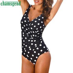 vente en gros Sexy Body Femmes V Cou sans manches point de vague combinaison de mode Sexy Body Summer Body Suits pour les femmes Femme 2019 # 30