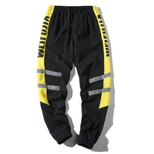 Htlb Men Color Block Patchwork Thin Joggers Harem Pants Men 2019 Harajuku Hip Hop Casual Male Trousers Elastic Streetwear Pants Y19071801