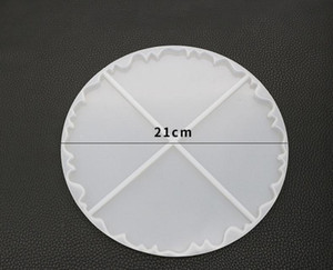 21cm Irregular Wave Coaster Resin Casting Molds Silicone Epoxy Jewelry Pendant Agate Making Mould Tool SN4472