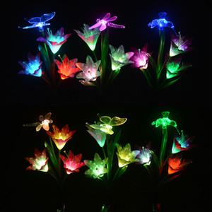 정원 태양 빛 야외 나비 / 잠자리 꽃의 요정 라이트 크리스마스 웨딩 장식 방수 태양 광 발전 램프