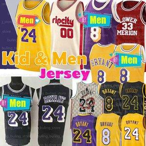 NCAA 8 24 33 Aşağı Merion 00 Carmelo Anthony Basketbol Jersey LeBron 23 James Koleji Erkekler Gençlik çocuk Bryant Formalar