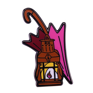 Hagrid pin pink umbrella lantern brooch wizard adorable accessory magical HP fans addition
