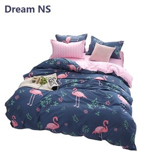 AHSNME Flamingo edredon cobrir Set Pássaro Bedding Sets Rei Queen Size Euro Parure de Lit Adulte tecido macio Colchas