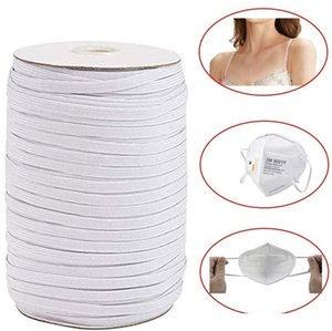 3 6mm DIY mask Braided Elastic Band Bungee Cord Rope White Heavy Stretch Knit Spool 200 144 Yards for Sewing