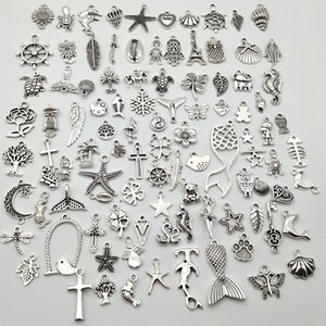 Vintage Antique Silver Alloy Mini Alloy Pendant DIY Jewelry Making Charms