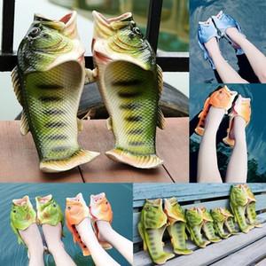 Aile Terlik Reklam Türü Komik Balık Terlik Lifelike Balık Sandalet Çocuk Yetişkin Kadın Erkek Bling Ayaklı Plaj Slaytlar Seyahat Çift Flops