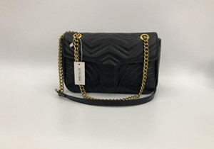 4 colores bolsos de hombro de cadena mujeres bolsos de cuero acolchado del remiendo bolso crossbody de moda famoso monedero del diseñador femenina bolsa de 26 CM