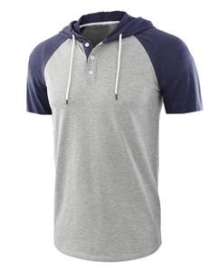 Couleur Tops Designer Homme T-shirts d'été à manches courtes hommes Hauts mode de style européen Hommes O Neck Splice