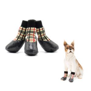 Algodón nuevo otoño invierno impermeable al aire libre perro calcetines anti de la resbalón pequeño y zapatos grandes para mascotas perro zapatos Mascotas Suministros Tamaño 0 # -6 #