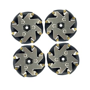 4pcs Directional Wheels, 48mm (dia) Mecanum Wheel for Robot  Tank  Car  RC Toy Part, Kits for Arduino DIY Science Learning