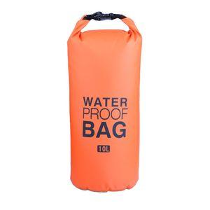 2L 5L 10L Waterproof Bags Travel Drift Waterproof Organizer Bucket Bag Dry Bag For Outdoor Drifting Beach Sea Single Shoulder