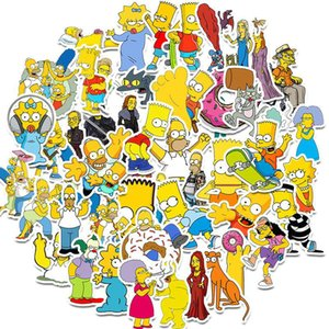 2016 New Set Cartoon The Simpsons Graffiti Waterproof Stickers For Car Laptop Luggage Skateboard Motorcycle Decal Kids Toy Stickers home2010