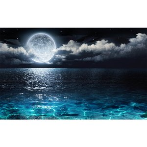 New Arrival 5D DIY Diamond Painting Moon Sea Diamond Embroidery Full Square Moasic Cross Stitch Wall Kits Home Decor Gift