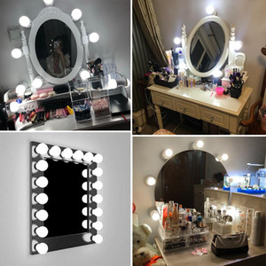 Applique LED 16W miroir de maquillage Vanity Led Ampoules Hollywood Style de lampe tactile Commutateur USB cosmétique Lighted Coiffeuse