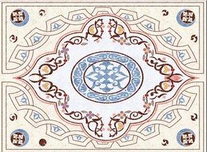 Custom Waterproof self-adhesive floor wall Sticker European style marble pattern floor painting living room bedroom floor mural decoration