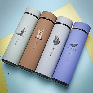 Tea Vacuum 480ml Coffee Tumbler Insulated Travel Mug Stainless Steel Water Bottle with Tea Filter Thermocup Hot Water Thermos