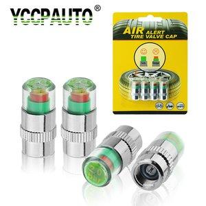 YCCPAUTO 2,0 2,2 2,4 Bar Monitor de presión de neumáticos de coche tapa de vástago de válvula indicador de Sensor automático Kit de herramientas de diagnóstico alerta de aire piezas