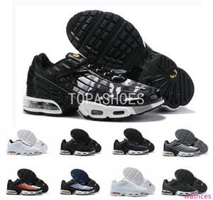 2019 new Plus III 3 Men desig TUNED Running Shoes Classic Outdoor Black White Sport Shock Sneakers women requin Blue Spider 36-45