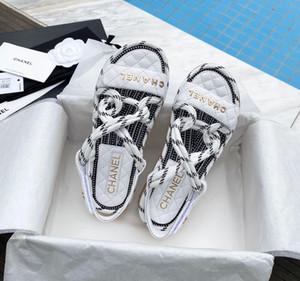 Rome Femmes Chaussures d'été Chaussons corde de chanvre plates à lacets Croix-noué Pantoufles Toe Sandales Sandalia Feminina Chaussures FemmeFisherman Sho