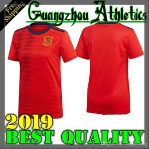 Copa del mundo 2019 España mujer casa rojo Fútbol Jersey 2019 mujer España camiseta de fútbol 2019 A.INIEST ISCO ASENSIO niña Uniformes de fútbol