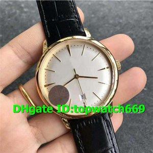 MK Luxury Watch Patrimony 85180 cassa in oro giallo 18 carati quadrante argento quadrante nero cinturino in pelle Miyota 9015 movimento automatico orologi da uomo