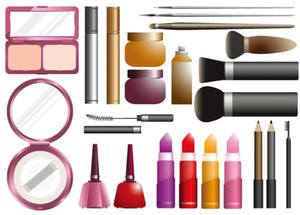 trasporto libero trucco viso link cosmetici, ombretto polvere urgente rossetto mascara fondazione pennello blush / correttore etc.