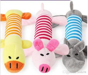 croix peau de gros animaux pee frontière chaud Pet Pet Toy peluche son à long 20pcs jouets pour chiens animaux / lot L603