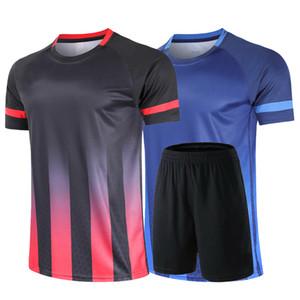 جديد الريشة بدلة الرياضة قصيرة الأكمام + تنس الطاولة قميص المرأة ملابس التنس الشحن السراويل القصيرة للرجال مجانا