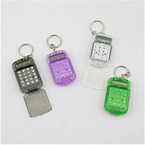 Hot Fashion Cute Mini Pocket Calculator Portachiavi Portachiavi Calcolatrice portatile Colori casuali misti