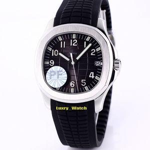 PF Top versión Aquanaut Dial Negro Miyota 9015 Reinstale Cal.324 SC 5167A automático del reloj para hombre de cristal de zafiro relojes deportivos caja de acero 5167A-001