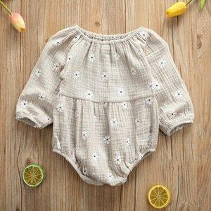 Pudcoco automne coton nouveau-nés Enfants Bébé layette Casual manches longues Romper Jumpsuit Bodysuit Casual Tenues