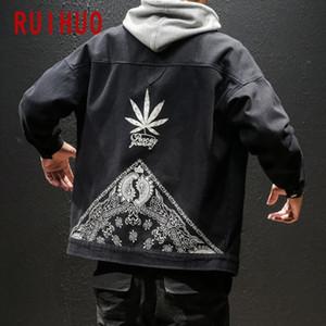 RUIHUO 2020 Yeni Bahar Casual Ceket Erkekler Coat Marka Slim Fit Safari Stil Bombacı ceketler Erkekler Coats WINDBREAKER Moda M-5XL