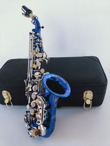 2020 Yeni Soprano Saksafon Yanagisawa S-991 müzik aletleri Gök mavisi gümüş anahtar bemol saksafon ücretsiz gönderim