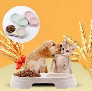 무료 배송 밀 밀짚 더블 보울 피더 보울 개 애완 동물 보울 건강 식품 피더 접시를 공급 도매