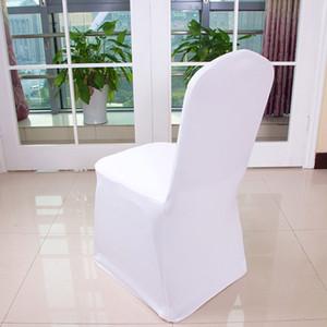 1шт Белый Плоский Арочные Передние обложки Spandex Lycra крышки стула свадьбы крышки стула