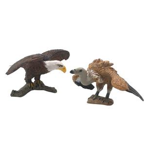 2 Stück Micro Landschaft Ornament animial Abbildung Vögel Figurine Craft Gartendeko Adler Geier
