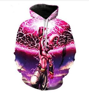 New Fashion Sweatshirt Men   Women 3d Hoodies Print Dragon Ball Z Majin Buu Unisex Slim Stylish Hooded Hoodies LRS095