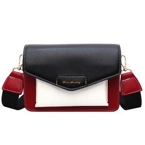 Мода новая женская сумка тренд Лоскутная цвет PU кожа Женщины сумка на плечо corssbody высокое качество сумка casaul