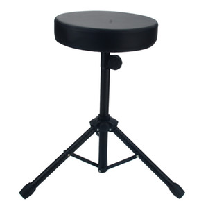 New Drum Stool Non-adjustable Drum Chair Black Round Seat Rotatable Ion Band Performance Drum Stool Chair