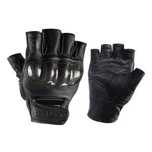Carbon Fiber Motorcycle Half Finger Gloves Motorbike Ride Fingerless