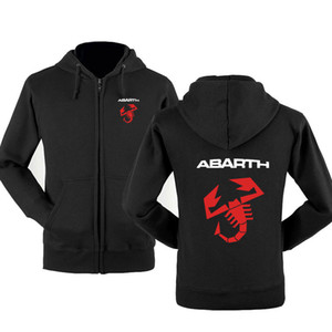 Il nuovo modo Abarth Car Felpa con cappuccio da uomo Hoody Primavera Autunno cotone del panno morbido Zipper Jacket HipHop Harajuku Abbigliamento maschile
