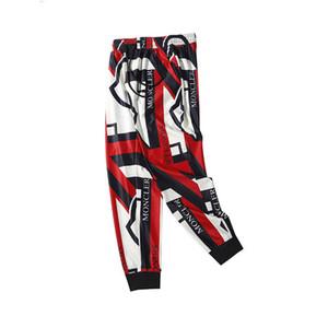 Pantalones de chándal de diseñador Marcas casuales de rayas para hombre Pantalones de impresión Pantalones de hip hop Moda Streetwear Pantalones de lujo para hombre