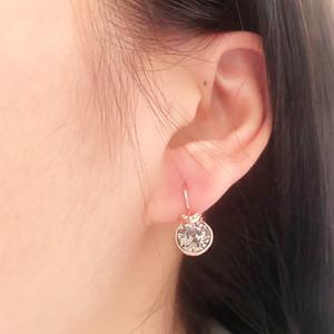 moda V günlük takı aksesuarları giyen ofis bayanlar için Swarovski elemanları kristal ile yapılan küpe damızlık iyi yılbaşı bijoux hediye